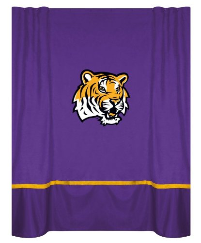kids bathroom decor lsu fighting tigers shower curtain