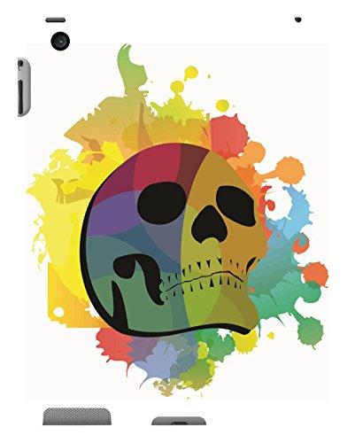 Koveru Back Cover Case for Apple iPad-2 - Colored Skull