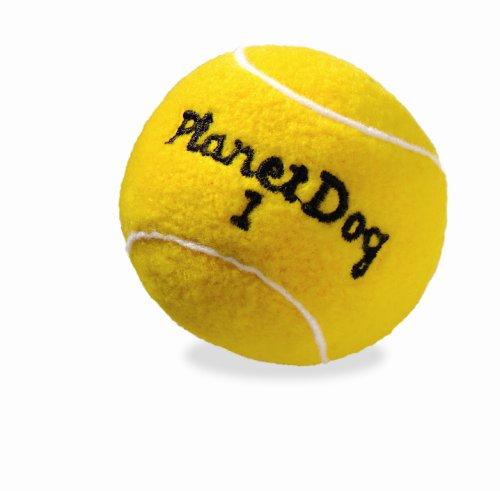 Planet Dog Squeaky Plush Tennis Ball