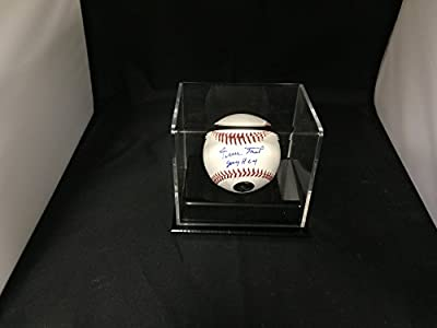 Willie Mays Autographed Signed San Francisco Giants Inscribed SAY HEY MLB Baseball With Case SEYHEY Hologram With Display Case