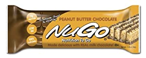 NuGo All-Natural Nutrition Bar, Peanut Butter Chocolate,  1.76-Ounce Bars (Pack of 15)