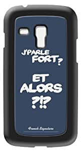 Modelabs Made In France Coque auto cicatrisante en silicone pour Samsung Galaxy S3 Mini Motif et Alors Bleu