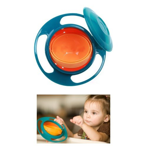 Gyro Bowl Rotary No Spilling Cup Pod Lid Bpa Free Great Fun Baby Kids Snack Food front-910210