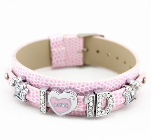 1D Crystal Slider Letter Wristband Bracelet