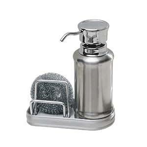 Interdesign York Ergo Kitchen Soap Dispenser Pump And Sponge Caddy Organizer For