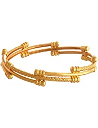 Zeneme Traditional Ethnic One Gram Gold Plated Designer Bangle For Women & Girls