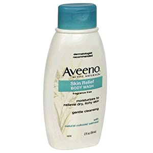 Aveeno Active Naturals Skin Relief Body Wash, Fragrance Free, 12-Ounce Bottles (Pack of 3)