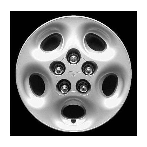 97 98 FORD MUSTANG WHEEL COVER HUBCAP HUB CAP 15 INCH, 5 OVALS BRIGHT SILVER 15 inch WITH EXPOSED LUGNUTS (center not included) (1997 97 1998 98) F261244 FWC00931U20