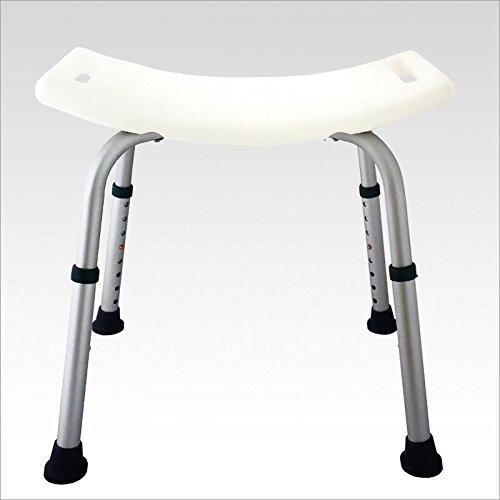 Sgabello sedile per doccia bagno colore: bianco - silver 50 x 30 cm per più sicurezza e comodità in bagno ideale per anziani e disabili