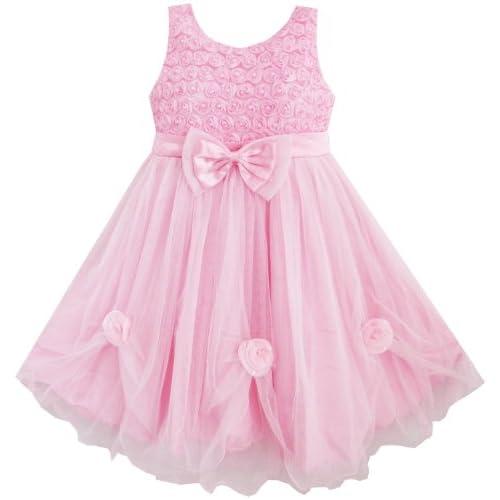 BT34 子供ドレス 女の子ドレス キッズドレス 結婚式 発表会 ピンク ローズ タル ブティック 130cm
