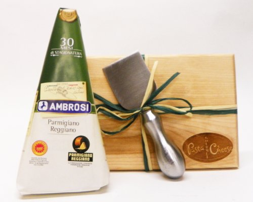 Hand Wrapped Parmigiano Reggiano w/Board & Knife - Aged 30 Months - 16oz