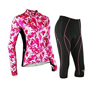Outto Ladies Pink Camouflage Pattern Long Sleeve Jersey Set, Breathable Thin... by Outto