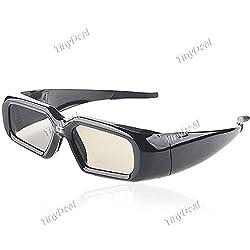 Fashionable USB Rechargeable 3D Active Shutter Glasses for DLP Projector - Black TDG-100649
