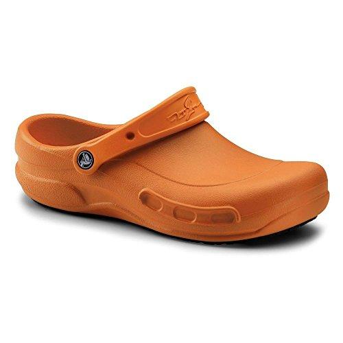 Crocs SureGrip Unisex - Adult Mario Batali Bistro Orange Slip Resistant Work Clogs 7M (Crocs Chef Women compare prices)
