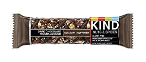 KIND Nuts & Spices Vrfwi Bars, Dark Chocolate Mocha Almond, 36 Count cUAir