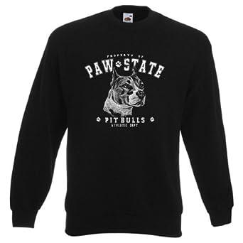 Sweatshirt: Paw State - Pit Bull, Farbe:Schwarz;Größe:XXL