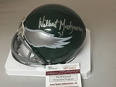 Autographed/Signed Wilbert Montgomery Philadelphia Eagles Football Mini Helmet JSA COA
