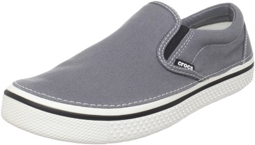 Crocs Unisex-Adult Hover Slip On Fashion Trainer Charcoal/White 11291-04O-192 8 UK