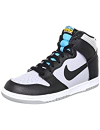 Nike Mens Dunk High Bball Skate Shoes Gray Blk Turquoise 317982-047 Size 10