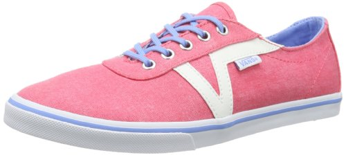 Vans W DIXIE (WASHED) LITTLE, Sneaker donna, Red - Rot ((Washed) rouge), 35