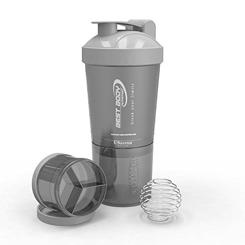 Best Body Nutrition Eiweiß Shaker US Bottle, Schwarz, 2437