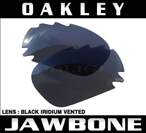 オークリー サングラス用 交換レンズ RACING JACKET/JAWBONE BLACK IRIDIUM VENTED 16-866[並行輸入品]