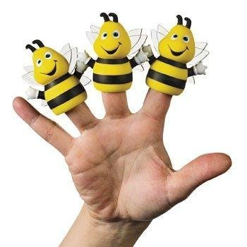 Busy Bee Finger Puppets - Novelty Toys & Finger Puppets, 12 Count - 1