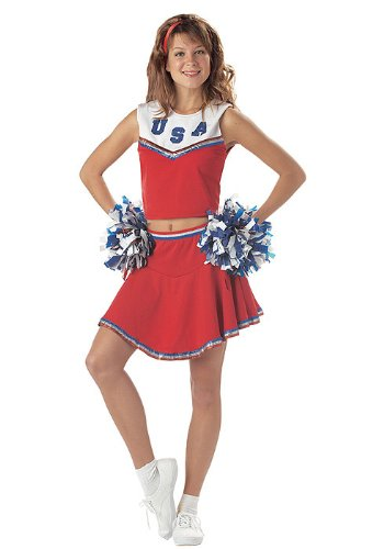 California Costumes Women's Patriotic Cheerleader Costume