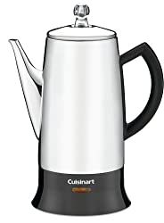 Cuisinart PRC-12 Classic 12-Cup Stainless-Steel Percolator, Black/Stainless from Cuisinart