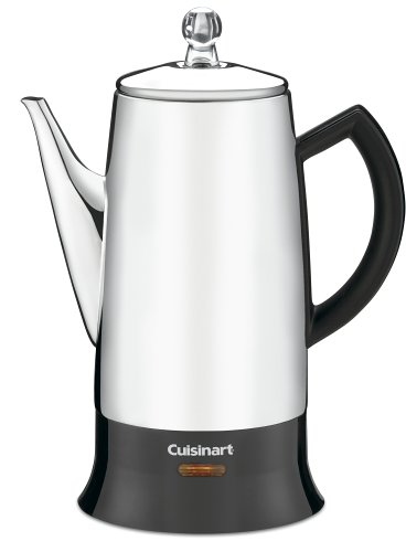 Cheap Cuisinart PRC-12 Classic 12-Cup Stainless-Steel Percolator, Black/Stainless