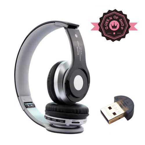 B2 Black High Quality Foldable Wireless Bluetooth Stereo Headset Headphones Mic For Iphone Samsung Htc ( Black )