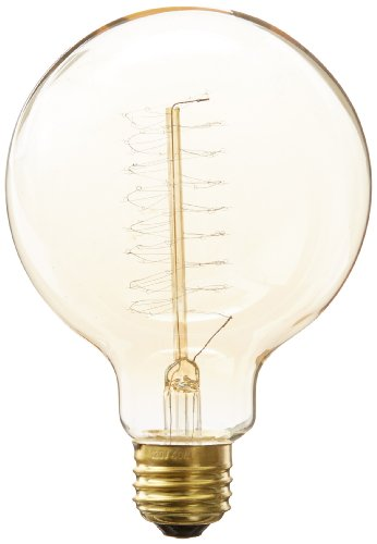 Heirlume Hl-7740Wpack1 Vintage Edison Bulb 40-Watt With Medium Base And Globe Shape, 3.7-Inch X 5.4-Inch, 1-Pack