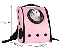 niceEshop Innovative Capsule Pet Carrier Soft Sided Breathable Travel Cat Backpack Bag for Cats and Dogs.