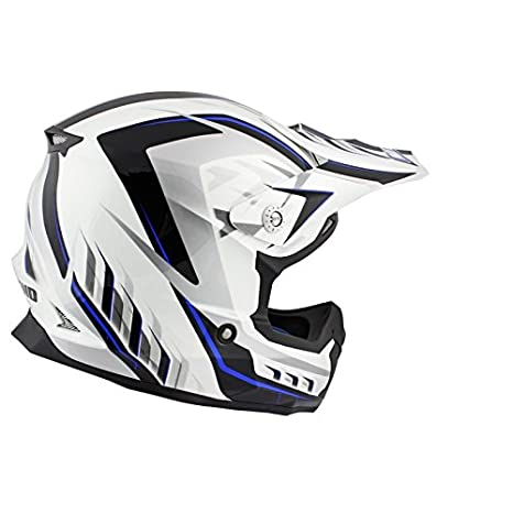 CASQUE CROSS NOEND DEFCON 5 WHITE/BLUE TX696 -M