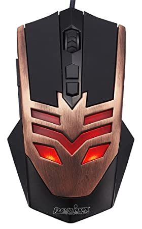 Perixx MX-1000 Copper, Programmable Gaming Mouse - 7 Programmable Button & 5 User Profile - Omron Micro Switches - Gold-plated USB Connector - Braided Fiber Cable - Avago 2000DPI A3050 Optical Sensor - DPI Switch 500-4000 - Ultra Polling 1000HZ