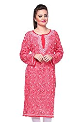 ADA Lucknow Chikan Hand Embroidery Casual Ethnic Kurti Dress for Women A99019