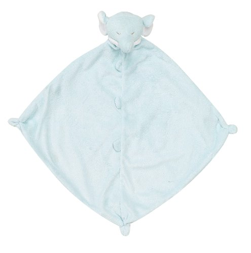 Angel Dear Swaddle Blanket and Blankie Gift Set, Blue Elephant