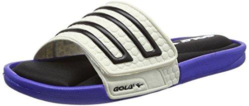 GolaSonoma Velcro - Scarpe da Spiaggia e Piscina uomo , Bianco (White (White/Reflex Blue)), 44