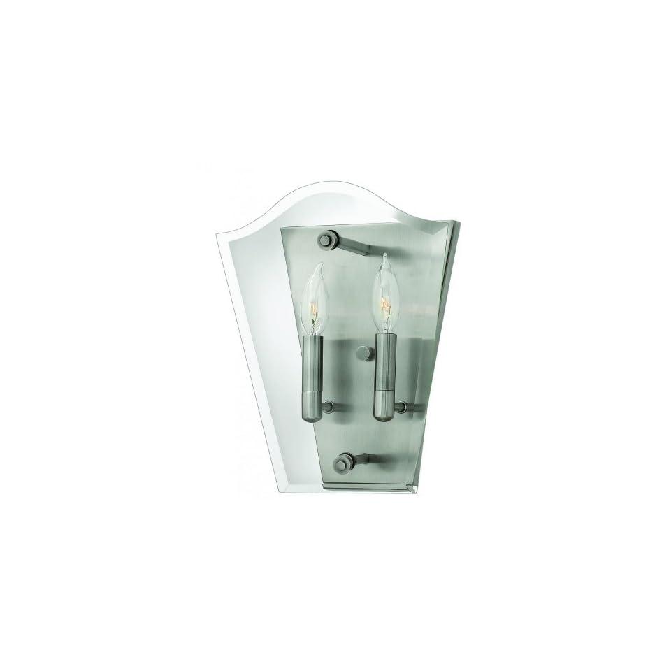 Annette Bathroom Light In Polished Antique Nickel Hinkley Lighting 53323PL