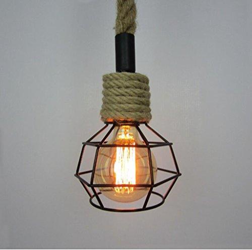 San Tai@Lampada lampadario a sospensione design retrò,Nero,ferro,16cm