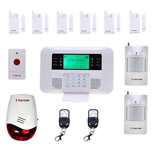 Pisector 2-In-1 Cellular Wireless Security Alarm System Double Protection Auto Dial Kit S