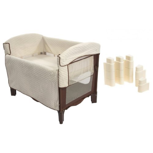 Arm's Reach Arm's Reach Co Sleeper Solid Bassinet With Leg Extensions, Cocoa/Natural