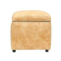 SIWA Style Vicar Faux Leatherette cane mat finish Storage Ottoman Beige