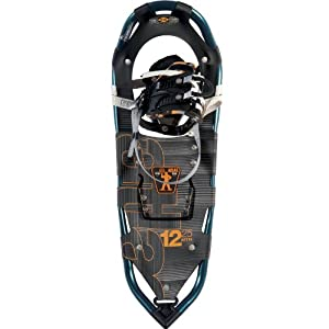 Atlas Snowshoes 12 Series Snowshoes, Marine Blue/Orange, 25-Inch