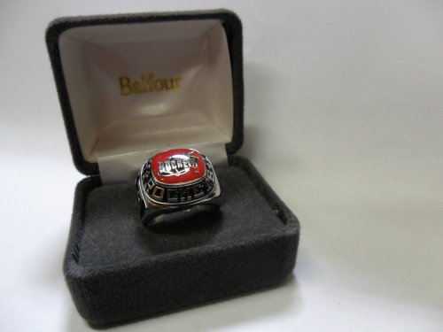 Balfour NBA Houston Rockets Ring Size 8.5 White Gold