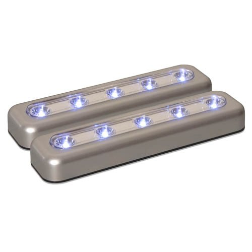 Amerelle 71187CC LED 7-Inch Task Bar, Silver, 2-Pack