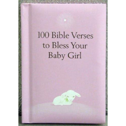 Amazon com hallmark baby bok1167 100 bible verses for baby girl book