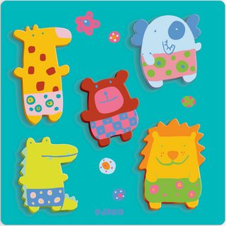 Picture of Djeco Jungle Cuddly Toys Puzzle (B001HGBYJM) (Floor Puzzles)