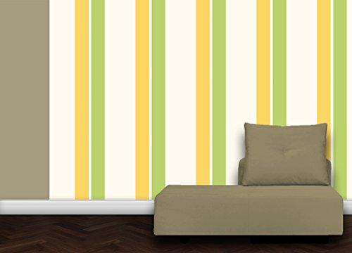 gmm tapete modern living green individuell gefertigt mit streifenfarben passend zu sch ner. Black Bedroom Furniture Sets. Home Design Ideas