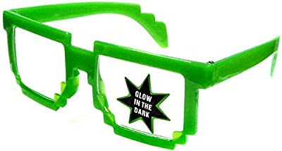 Minecraft Pixelated Glow-In-The-Dark Glasses [Green] from W.I.I.